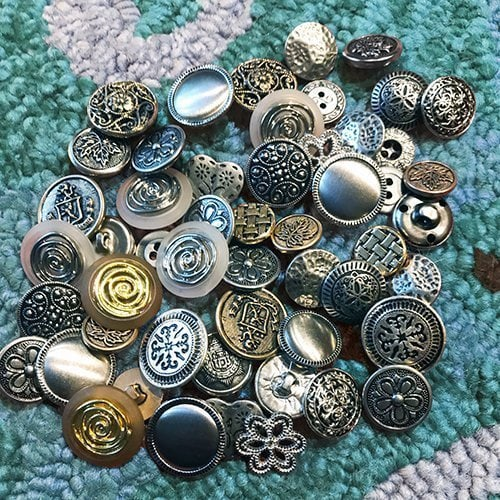 Vintage Buttons for Mittens